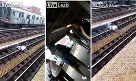 美國,紐約,地鐵,觸電,意外,死亡 圖/翻攝自Liveleak