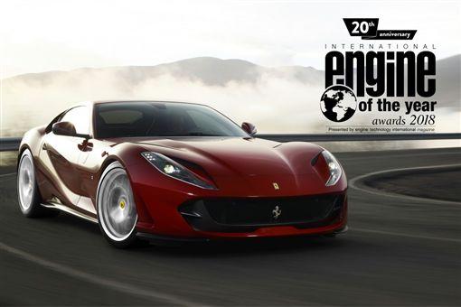 Ferrari 3.9升V8渦輪增壓引擎連續三年拔得「國際年度引擎大獎」。(圖/Ferrari提供)