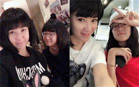 陸元琪與13歲女兒「妹頭」 翻攝自臉書