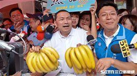 侯友宜,板橋農會,賣香蕉鳳梨救果農(圖/記者李英婷攝)