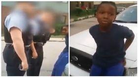 美國員警疑執法過當,強銬10歲非裔男童(圖/翻攝自YouTube)