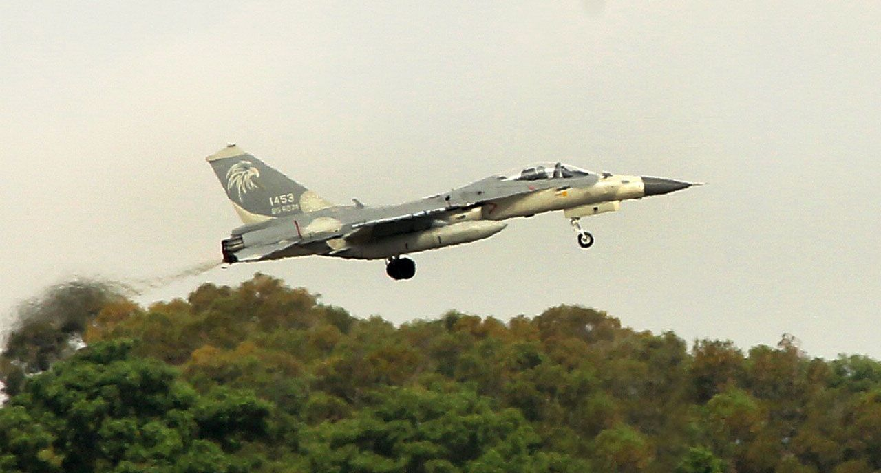 漢光34演習反空降IDF戰機緊急升空攔截。(記者邱榮吉/清泉崗拍攝)