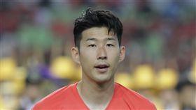 ▲熱刺球星孫興慜接下韓國隊長任務。(資料照/美聯社/達志影像)