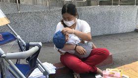 街賣,桃園火車站,早產兒,慧媽(記者郭奕均攝影)