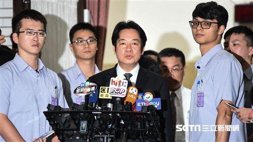 行政院長賴清德前往立法院致意。 (圖/記者林敬旻攝)