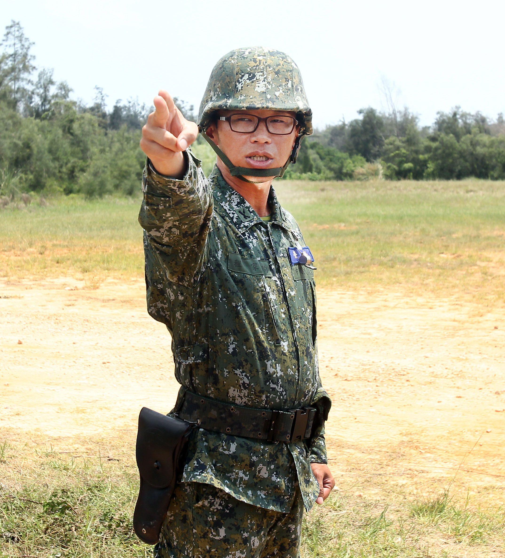砲兵營營長程家駒中校。(記者邱榮吉/金門拍攝)