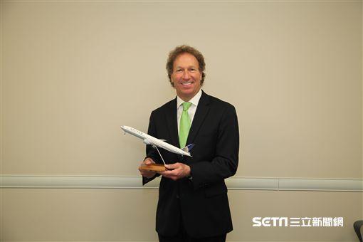 聯合航空芝加哥總部, 全球銷售資深副總裁希爾夫曼(Dave Hilfman)。(圖/記者簡佑庭攝)