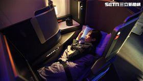 聯合航空商務艙,Polaris商務艙。(圖/記者簡佑庭攝)