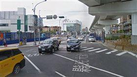 新北市縣民大道與新站路口。(圖/翻攝Google Map)