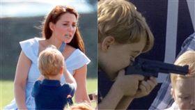 英國,王室,玩具,槍,小孩,喬治,槍口,喪命,寶寶,媽媽,開槍,槍,玩,出遊 圖/翻攝自推特