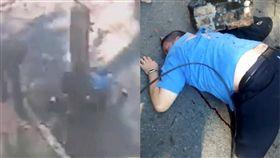 巴西,水泥柱,電線,卡車,鐵釘,建築,監視器,拉扯,聖保羅,崩落,意外 圖/翻攝自LiveLeak https://goo.gl/Mi3UyV