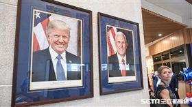 美國在台協會AIT入厝典禮,官員介紹。 (圖/記者林敬旻攝)