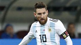 梅西是否退出國家隊,取決於世界盃賽果。(圖/美聯社/達志影像)