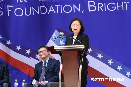 美國在台協會AIT入厝典禮,總統蔡英文致詞。 (圖/記者林敬旻攝)
