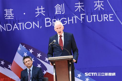 美國在台協會AIT入厝典禮,理事主席莫健。 (圖/記者林敬旻攝)
