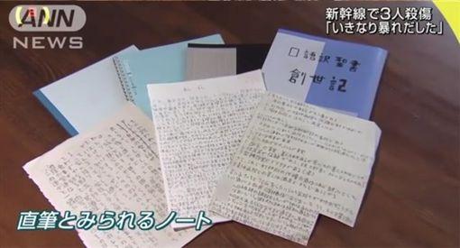 不是動漫!日本新幹線隨機殺人魔 家中竟搜出一堆這種書圖/翻攝自ANN