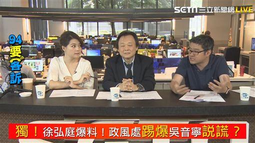 徐弘庭爆料政風處查吳音寧報告 《94要客訴》