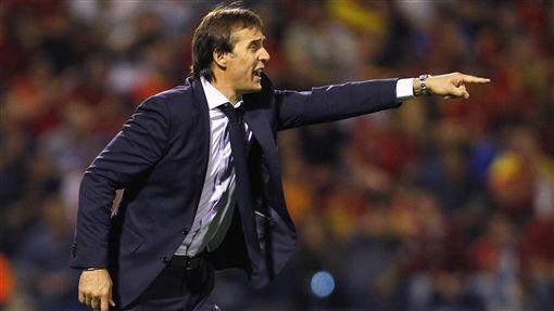 西班牙總教練Julen Lopetegui。(圖/美聯社/達志影像)