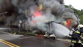 台北,和平東路,鐵皮屋,火警。翻攝畫面