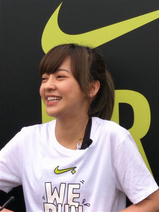 ▲陳意涵參加女性路跑活動。(圖/記者林辰彥攝影)