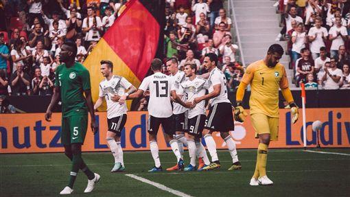世足賽德國隊。(圖/翻攝自德國隊推特)