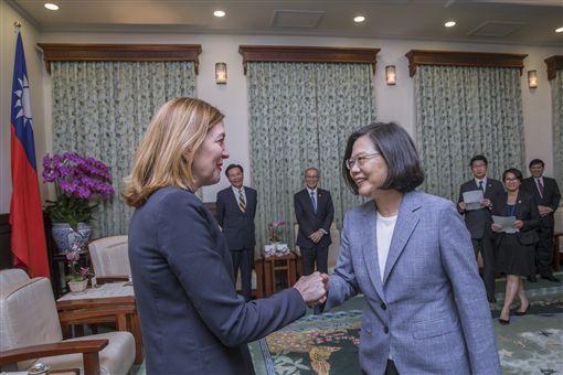 蔡英文總統13接見美國國務院教育暨文化事務助卿羅伊斯(Marie Royce)。(圖/總統府提供)