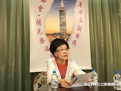 前副總統呂秀蓮談及安樂死立法問題,認為若規定太過鬆散,恐造成謀殺案增加。(圖/記者林惟崧攝)