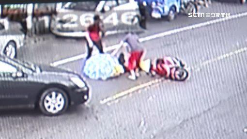 切對向車道怕撞! 7旬翁急煞反自摔受傷