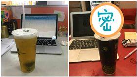 網友用塑膠水管喝手搖飲料(合成圖/翻攝自爆怨公社、朱學恒臉書)