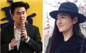 王炳忠和女友 林敬旻攝和翻攝畫面