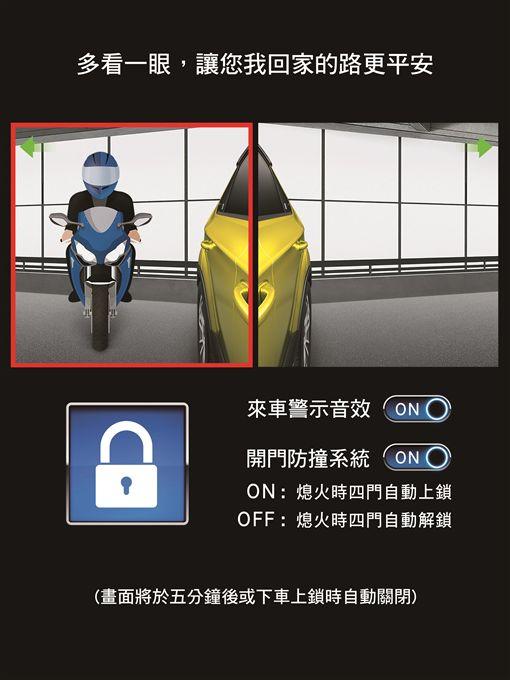 LUXGEN首創開門防撞系統。(圖/LUXGEN提供)