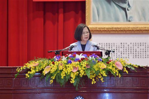 蔡英文總統出席中央警察大學畢業典禮。(圖/內政部提供)