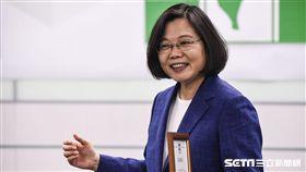 民進黨主席蔡英文主持新卸任黨部主委交接典禮。 (圖/記者林敬旻攝)
