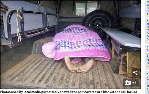肯亞/男偷吃小三「鮑魚吸莖」分不開 鄉民圍觀拍攝(圖/翻攝自Daily Mail)