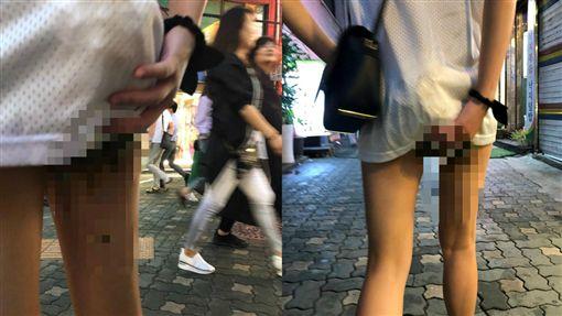香港辣妹韓國旅遊大在褲子上(圖/LIHKG)