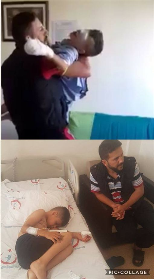 敘利亞男童阿卜杜勒(Abdul Muain)雙眼被炸傷失明(圖/翻攝自Spotlight Humanity臉書)https://www.facebook.com/SpotLightHumanity/