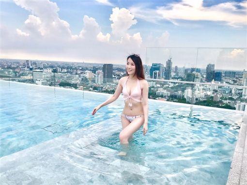 ▲香港女星黃煦珽前往泰國遊玩。(圖/翻攝自IG)