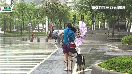 下雨,強風