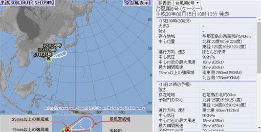 凱米颱風形成(圖/翻攝自日本氣象廳)http://www.jma.go.jp/jp/typh/