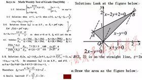 高一數學小考全英文還滿分 網友傻眼:我只懂CCCCBA 圖/翻攝自微博