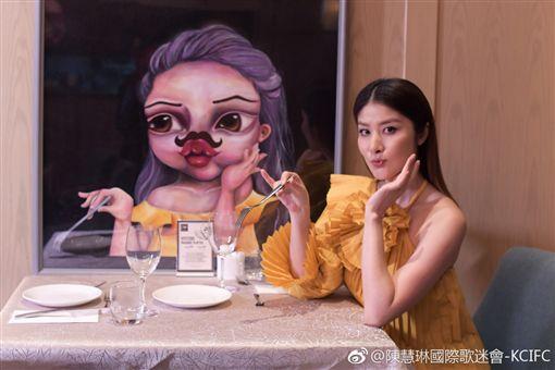 陳慧琳,/翻攝自微博