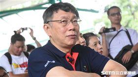 台北市長柯文哲出席「加油做公益」記者會。 (圖/記者林敬旻攝)