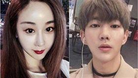 ▲咸素媛與陳華兩人相差18歲,被外界戲稱是「母子戀」。(圖/翻攝自微博)