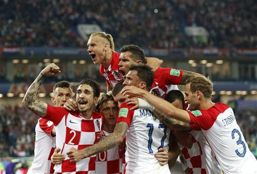 克羅埃西亞Luka Modric 12碼罰球進球。(圖/美聯社/達志影像)