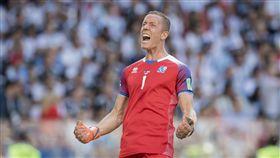 冰島門將荷朵森(Hannes Halldorsson)。(圖/美聯社/達志影像)