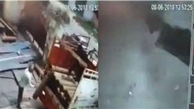 致命失誤!工人手滑重摔氧氣瓶 下一秒被炸成屍塊 圖/翻攝自liveleak