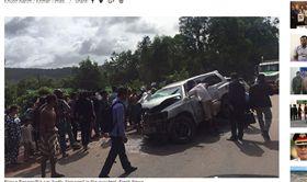 下鄉助選…柬埔寨親王車隊車禍 親王重傷、王妃傷重不治 圖/翻攝自KHMER TIMES