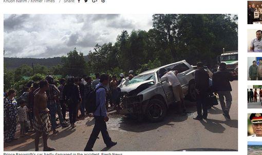 下鄉助選…柬埔寨親王車隊車禍 親王重傷、王妃傷重不治圖/翻攝自KHMER TIMES