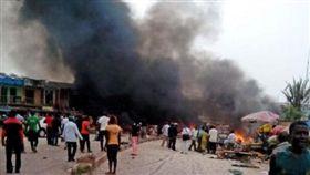 奈及利亞疑遭聖戰士炸彈攻擊。(圖/翻攝推特)