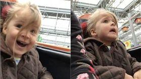 Kara,Lyla,過山車,購物中心,遊樂園,髒話,恐怖,好奇,嘗試,女童,反應,極端 圖/翻攝自YouTube https://goo.gl/p5tbMF